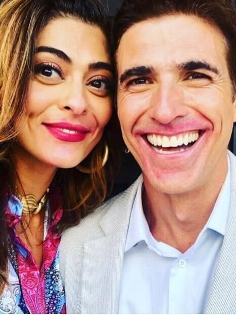 Juliana Paes e Reynaldo Gianecchini dançam em bastidores