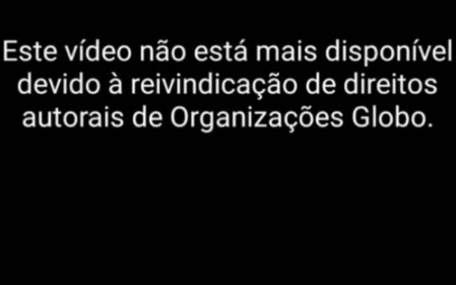 Globo derrubou transmissões nas redes sociais