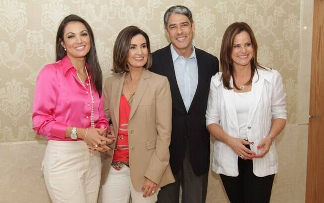 Patrícia Poeta, Fátima Bernardes, William Bonner e Renata Ceribelli: novidades na Globo