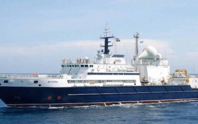 Navio russo sumiu do mapa após alguns dias de monitoramento da Marinha Brasileira