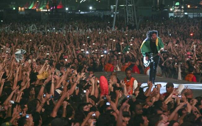 O Foo Fighters tocou no Lollapalooza Brasil 2012