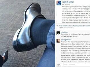A página de William Bonner no Instagram