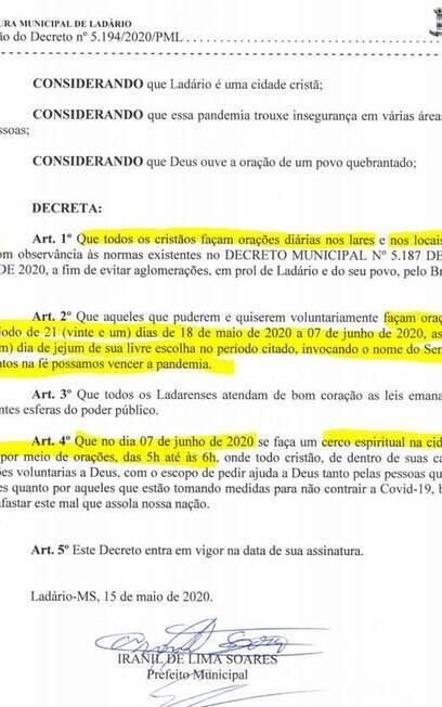 decreto jejum e oração contra covid-19