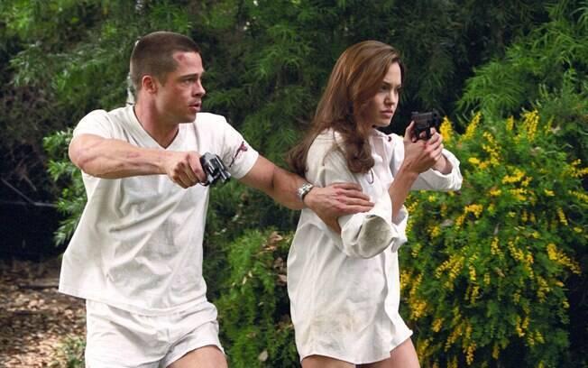 Casal na época, Angelina Jolie e Brad Pitt interpretaram dois matadores de aluguel em uma missão