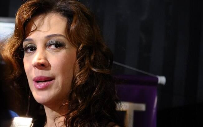 Claudia Raia falou sobre Gianecchini na festa de
