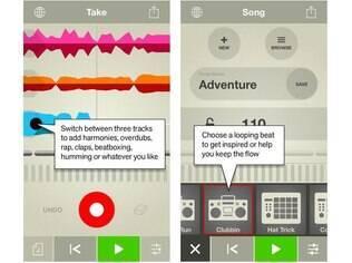 Disponível apenas para iOS, Take é um gravador criativo de voz que ajuda o usuário a compôr suas próprias músicas
