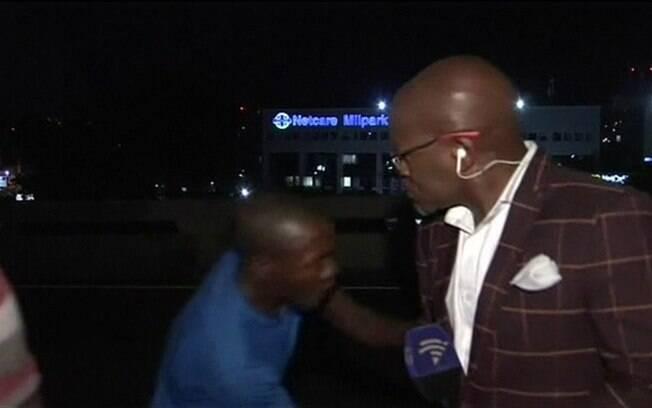 Os ladrões então fugiram, mas restou o vídeo gravado do assalto
