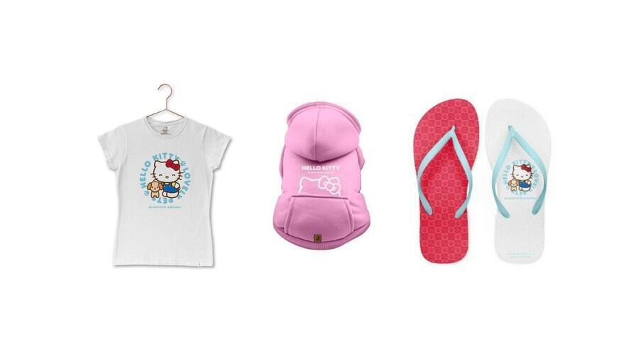 Produtos Hello Kitty e Instituto Luisa Mell