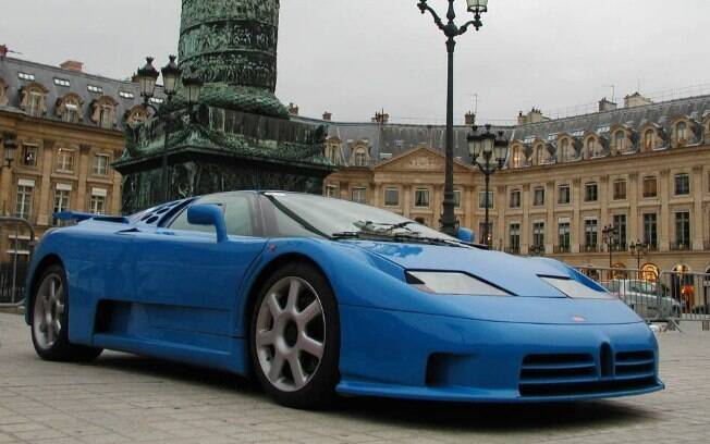 Schumacher também foi proprietário de um Bugatti EB110. Modelo adquirido em 1994 ficou em sua posse até 2003