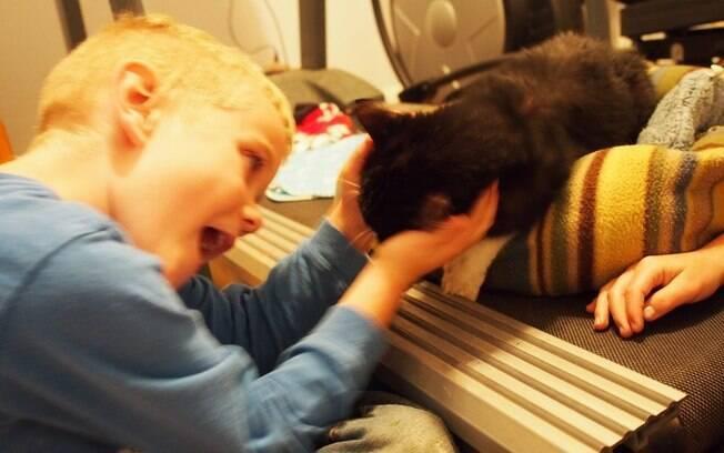 O menino e o gato