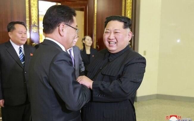 Reaproximação: Kim Jong-un se encontrou, nesta segunda-feira, com a comitiva de autoridades da Coreia do Sul