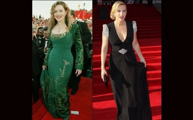 Kate Winslet no Oscar em 1998, quando