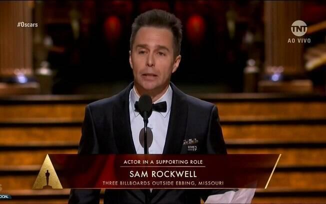 Sam Rockwell agradece seu Oscar de ator coadjuvante