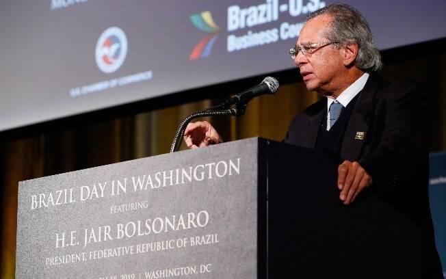 Nos EUA, Paulo Guedes reiterou a defesa da abertura comercial, mesmo em um cenário econômico externo adverso
