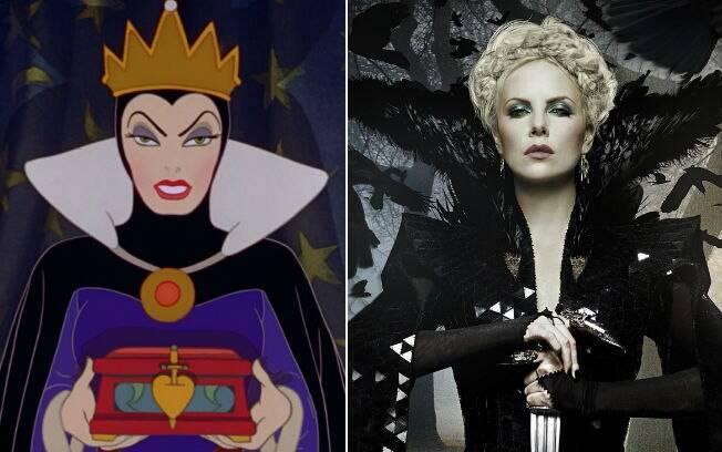 As duas versões que inspiraram Amy Candy: a do desenho 'Branca de Neve e os Sete Anões' (1937) e a interpretada por Charlize Theron em 'Branca de Neve e o Caçador' (2012