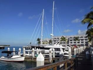 Marina em Key West: destino perfeito para quem quer nadar, surfar ou só descansar na paisagem