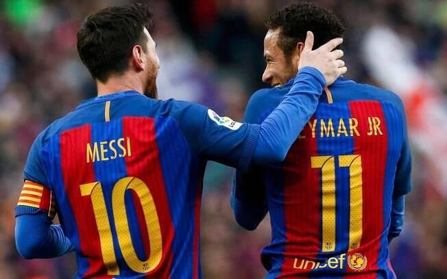 Messi quer Neymar no Barcelona novamente