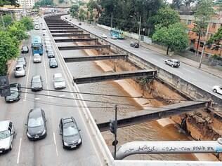 Polêmico. A canalização do Ribeirão Arrudas começou em meados de 1920