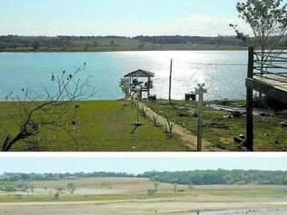 Antes e depois. Moradores de Delfinópolis mostram, na rede social, os efeitos da estiagem na região