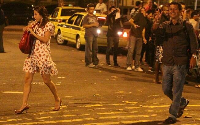 Marcos Palmeira reagiu com bom humor ao ser flagrado pelo paparazzo