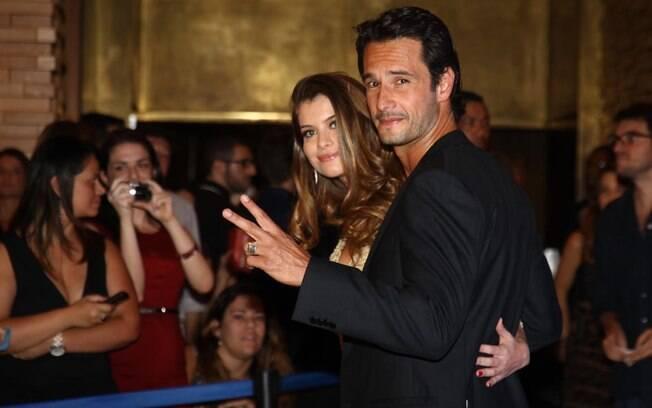Alinne Moraes e Rodrigo Santoro no lanaçamento de