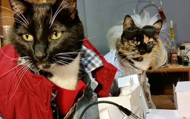 Doc Brown e Marty McFly, de De Volta Para o Futuro.