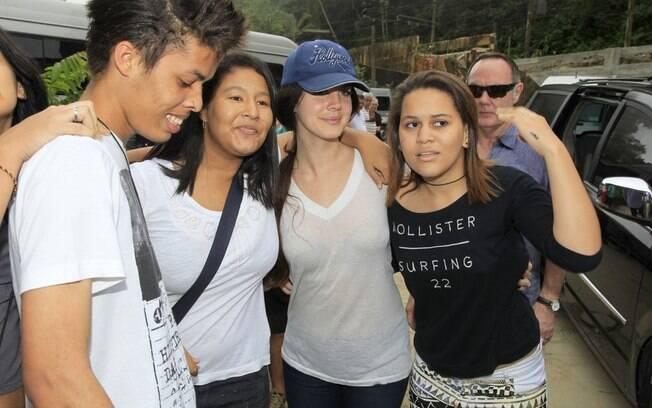 Lana Del Rey tirou foto com fãs
