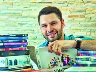Referências - Livros e filmes, muitos deles lidos e vistos antes de se especializar, são parte fundamental da formação de Carlos Fraiha