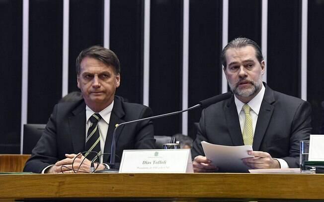 Bolsonaro e Toffoli defenderam a pacificação entre os poderes.