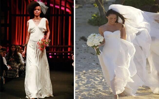Estilo contemporâneo: mistura de referências ideal para modernas, como Megan Fox. Vestido de Andrea Garcia para Bride Style 2011