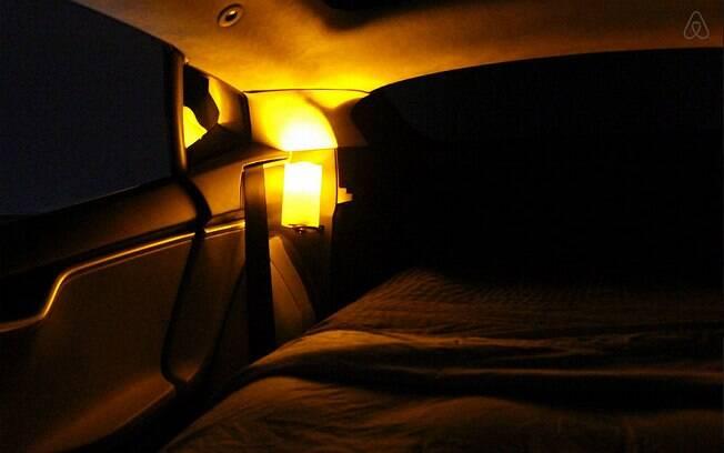 Luzes internas, música ambiente e ar condicionado são alguns dos itens disponíveis