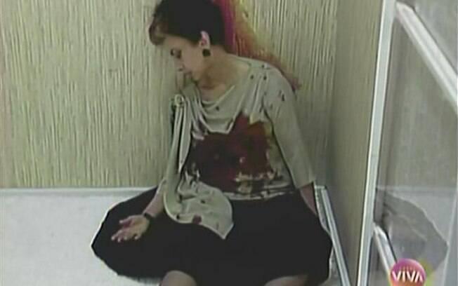 Odete Roitman depois de ser assassinada em
