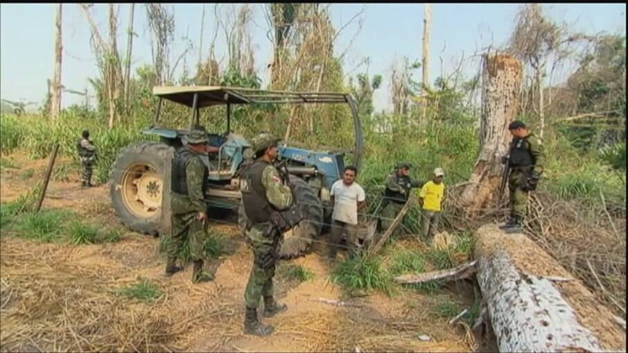 Desde que foi criada em agosto de 2018, a Força-Tarefa da Amazônia realizou 19 operações contra crimes ambientais