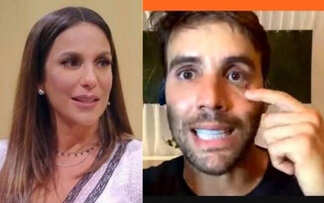 Ivete Sangalo e Daniel Cady sem aliança na live