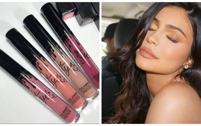 Kylie Jenner e sua linha de maquiagem Kylie Cosmetics