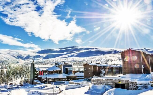 Em Trysil, na Noruega, são praticados vários esportes na neve