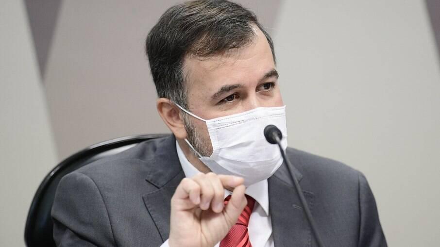 Alexandre Marques, auditor afastado do TCU, presta depoimento à CPI da Covid