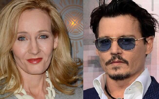 J. K. Rowling defendeu a participação do ator Johnny Depp em