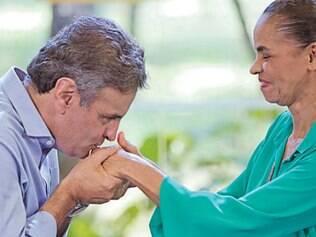 Força. Presidenciável tucano recebe apoio de Marina Silva na campanha