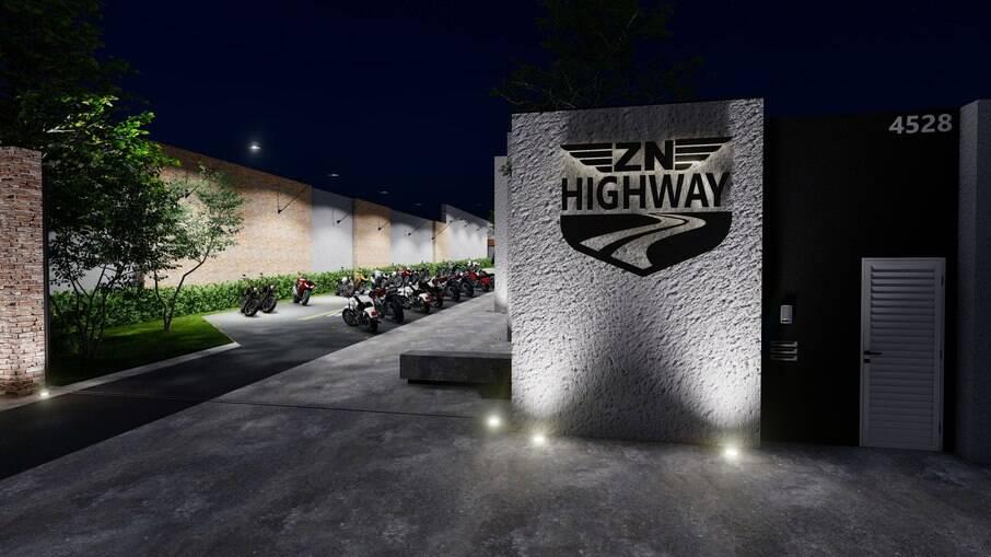 Espaço 'ZN Highway' é um local que promete atender todas as necessidades do motociclista com descontração