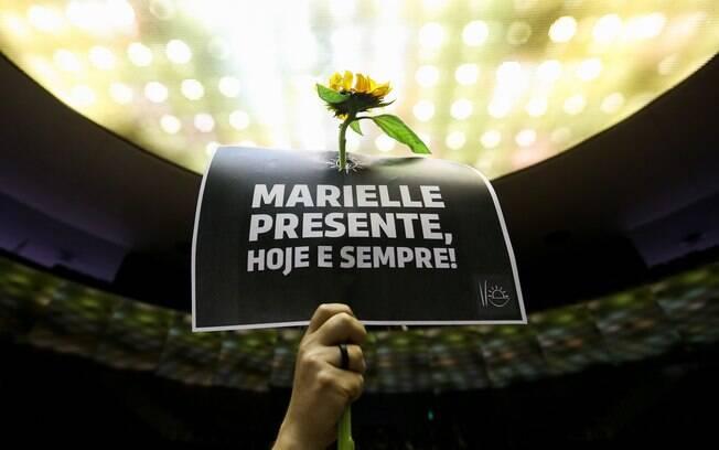 Assassinada aos 38 anos de idade, vereadora do Rio Marielle Franco (PSOL) foi homenageada na Câmara dos Deputados