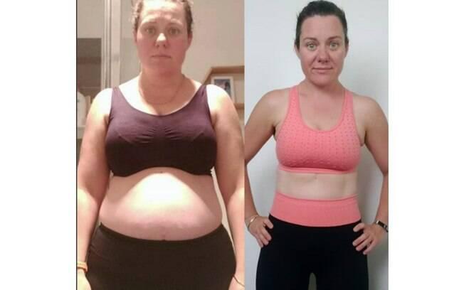 Angela Martin conseguiu unir dieta, exercícios e a criação dos cinco filhos e mudou o corpo em seis meses