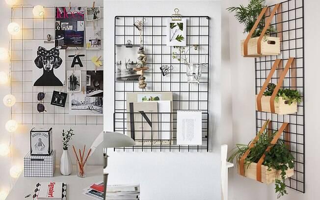 Tela aramada: aprenda a organizar suas ideias e ainda decorar a casa