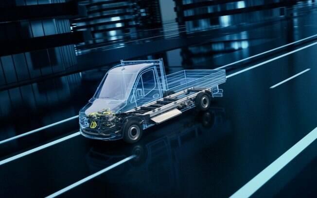 A montadora alemã já oferece uma Sprinter elétrica desde 2018, em versão única derivada do modelo convencional a combustão