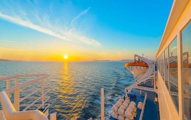 Em uma mesma viagem de navio você pode conhecer diversas cidades