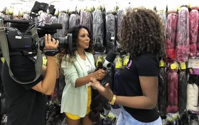 Valéria Valenssa fez sucesso como Globeleza e atualmente era repórter da Record