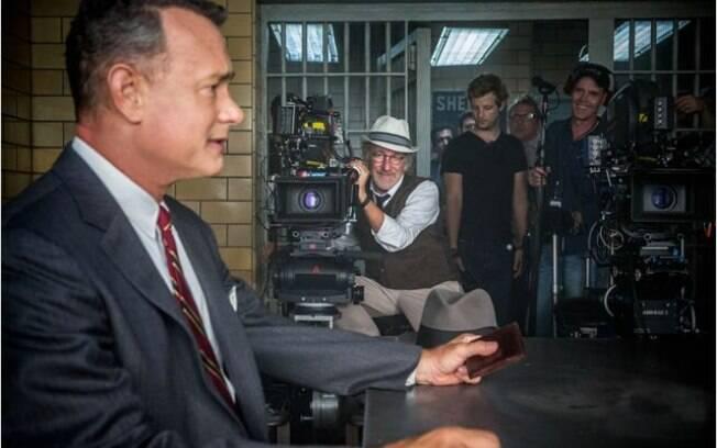Steven Spielberg no set de