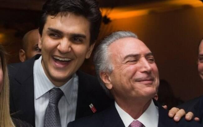 Michel Temer e o peemedebista Gabriel Chalita estavam juntos no casamento de Joesley Batista em 2012