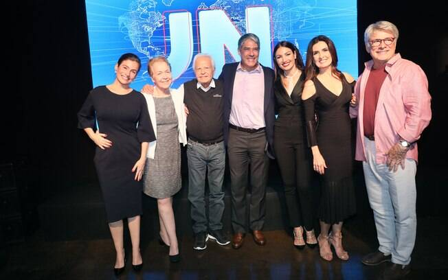 Renata Vasconcellos, Alice-Maria, Cid Moreira, William Bonner, Patricia Poeta, Fátima Bernardes e Sérgio Chapelin