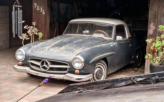 Mercedes-Benz 190SL ao ser descoberta